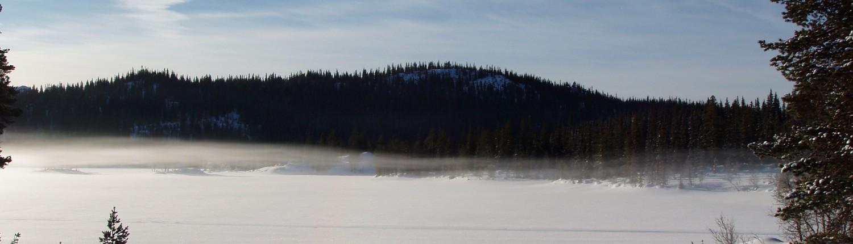 Morgonsol ved Breivatn i Øyfjell